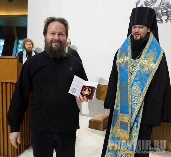 сотрудник ОВЦС Д.Петровский и владыка Ефрем