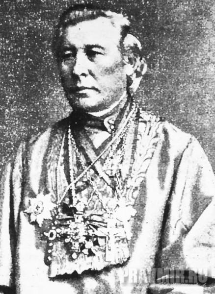 протоиерей Евгений Попов. Настоятель посольской церкви с 1840 по 1875 годы.