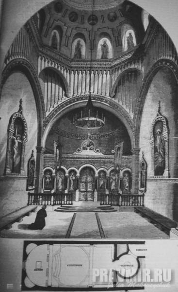 интерьер церкви на Уэльбек стрит.