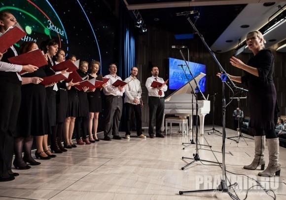 Репетиция хора РИА Новости (дирижер - Екатерина Малеина)