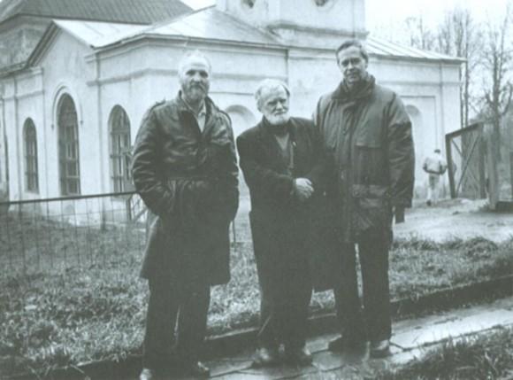 В. Белов с В. Крупиным и В. Распутиным в г. Орле