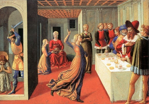 Беноццо Гоццоли. Танец Саломеи. 1461-1462