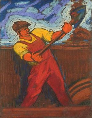 Фридрих Лехт. Землекоп. 1930 год