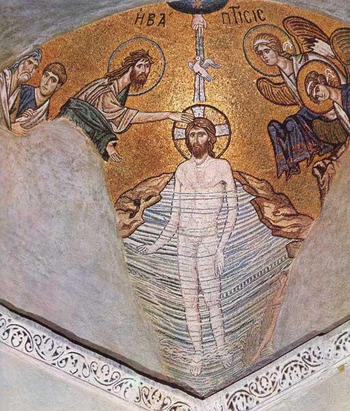 Крещение. Монастырь Дафне.
