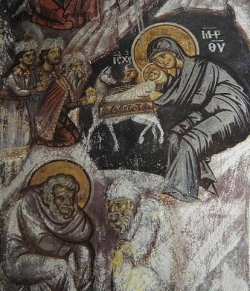 Монастырь Ватопед. Фреска в параклисе святого Димитрия Солунского