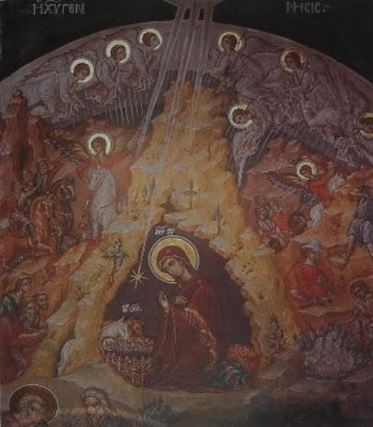 Монастырь Великая Лавра. Параклис св. Николая. Фреска 1560 г.