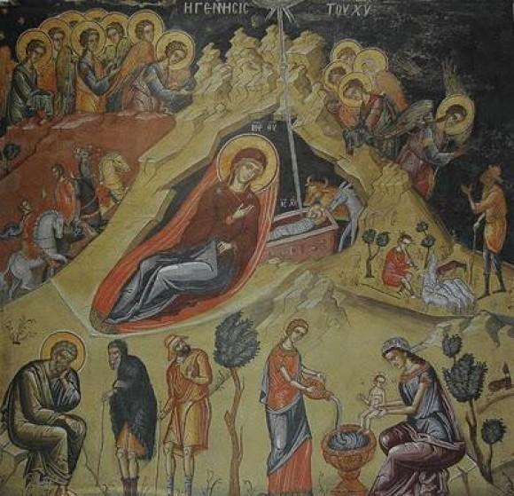 Монастырь Дионисиат. Фреска из кафоликона обители. 1547 г.