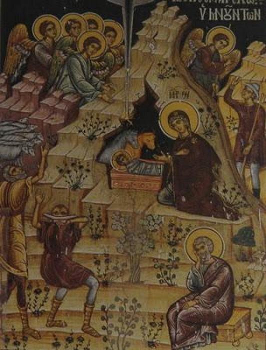 Монастырь Дохиар. Фреска в трапезной монастыря. 1676 г.