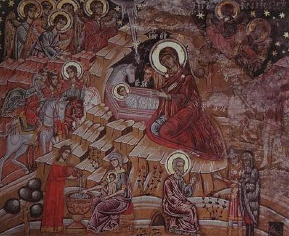 Монастырь Каракал. Фреска из кафоликона монастыря. 1717 г.