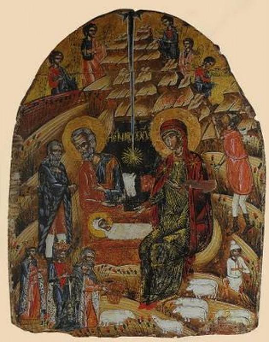 Монастырь Ксенофонт. Икона второй половины 17 в.