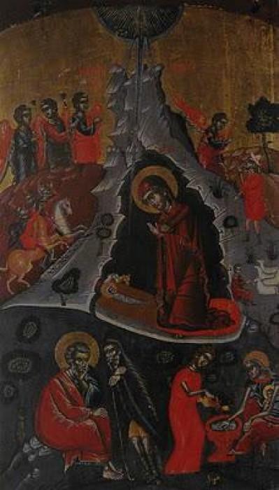 Монастырь Кутлумуш. Рождество Христово. Икона 16 в.