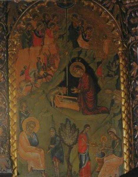 Монастырь Филофей. Икона из иконостаса кафоликона. 16-17 вв.