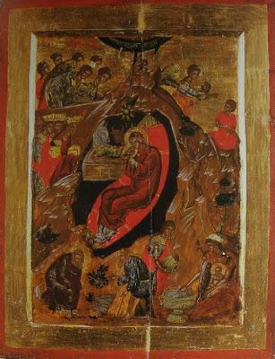 Монастырь Хилендар. Рождество Христово. Икона 1618 г.