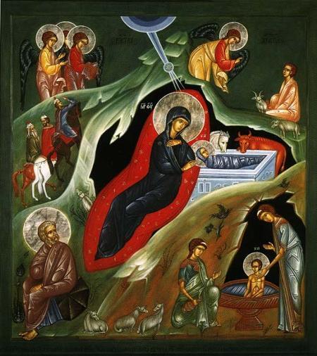 Рождество Христово. Новонаписанная икона