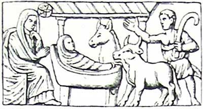 Саркофаг из Мантуи. Прорись. 320-335 г.