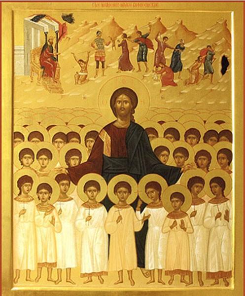 Христос и вифлеемские младенцы. Современная икона