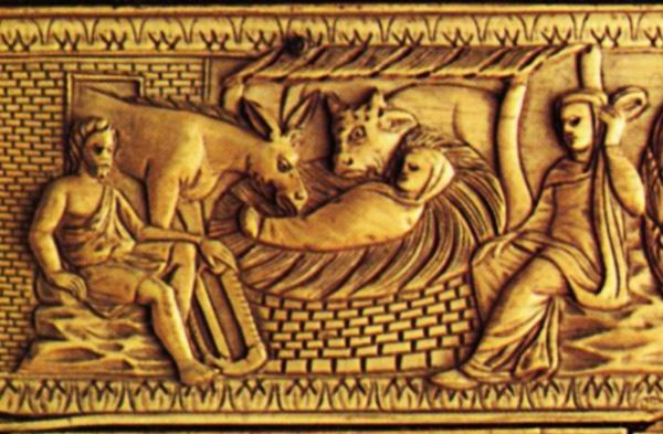 Оклад Евангелия. 2-ая половина VI в. Сокровищница Дуомо, Милан. Фрагмент