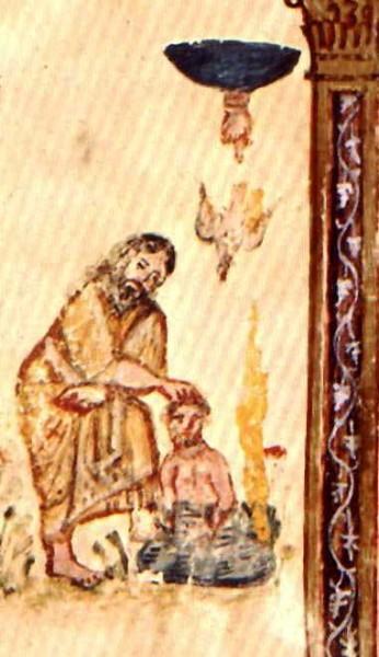 Миниатюра Кодекса Раввулы. 586 г. Библиотека Лауренциана, Флоренц, Италия Фрагмент
