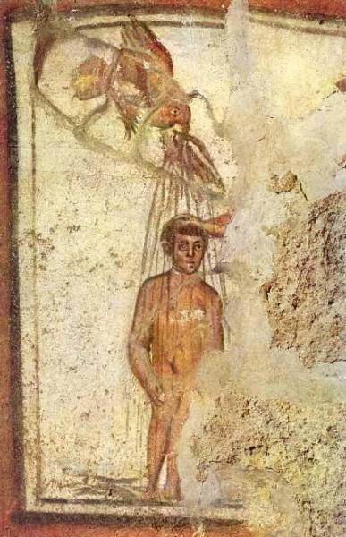 Фреска из римских катакомб. III в.