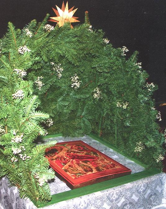 Рождественский вертеп в храм 74