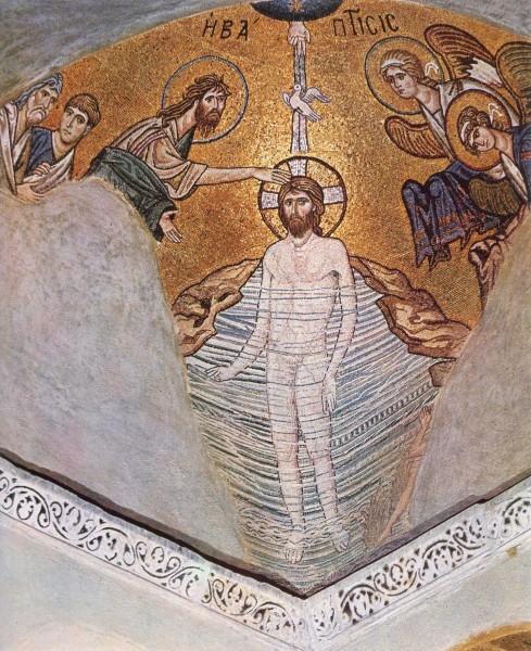 Мозаика церкви Успения в Дафни. Около 1100 г. Греция