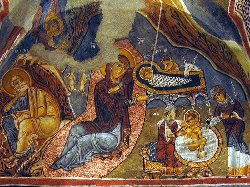Фреска пещерной церкви Каранлик. XI-XIII в. Каппадокия, Турция