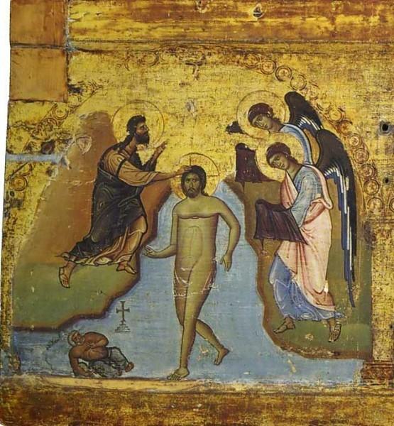 Икона-эпистилий. 2-ая половина XII в. Монастырь св.Екатерины, Синай. Фрагмент