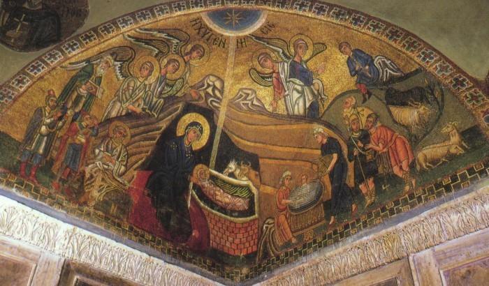 Мозаика собора монастыря Осиос Лукас в Фокиде. 30-е гг. XI в. Греция
