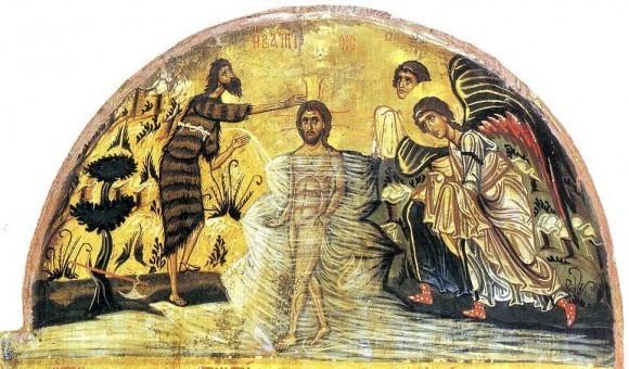 Трехчастная икона. XII в. Монастырь св.Екатерины, Синай. Фрагмент