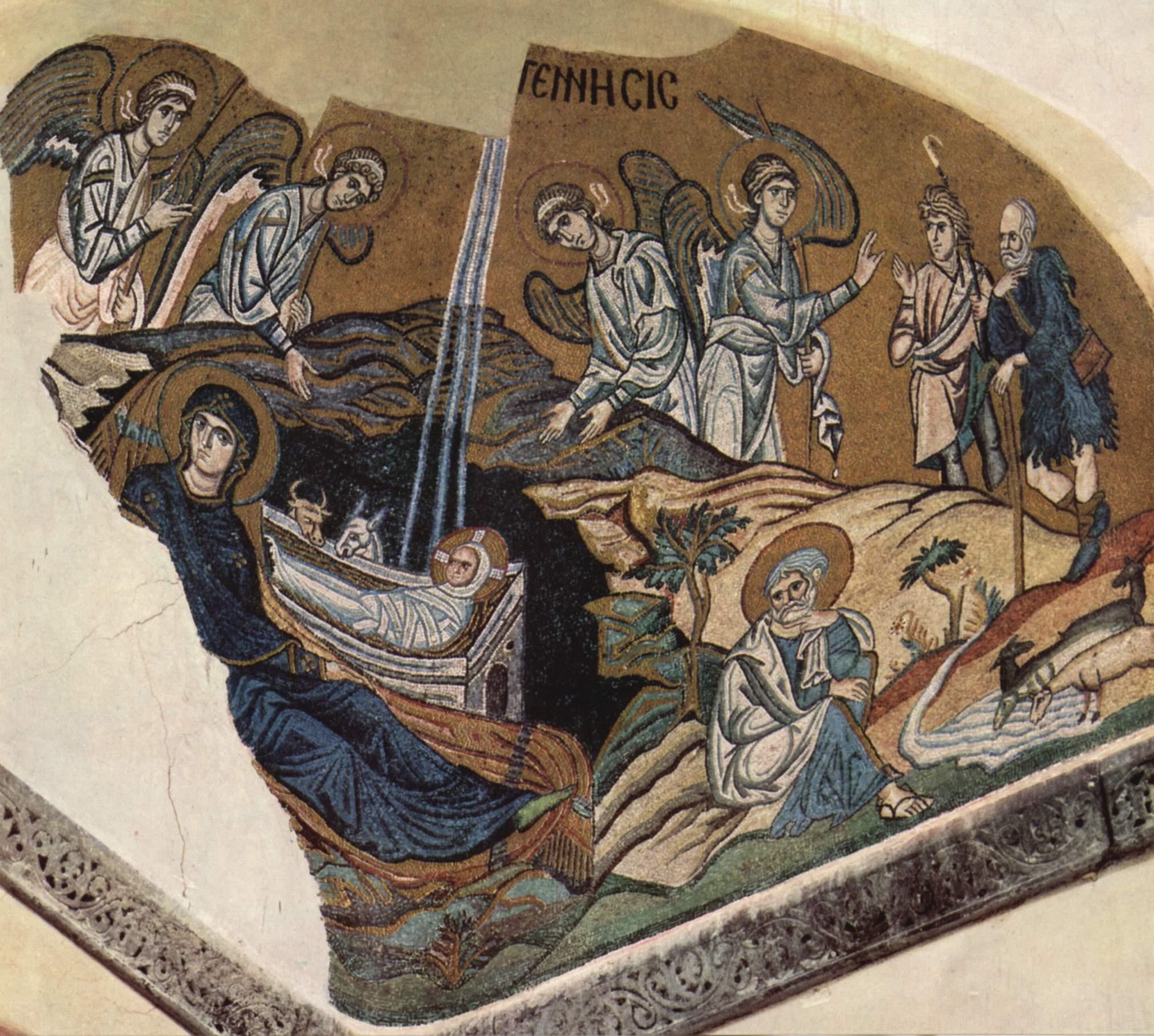 Мозаика церкви Успения в Дафни. Ок. 1100 г. Греция