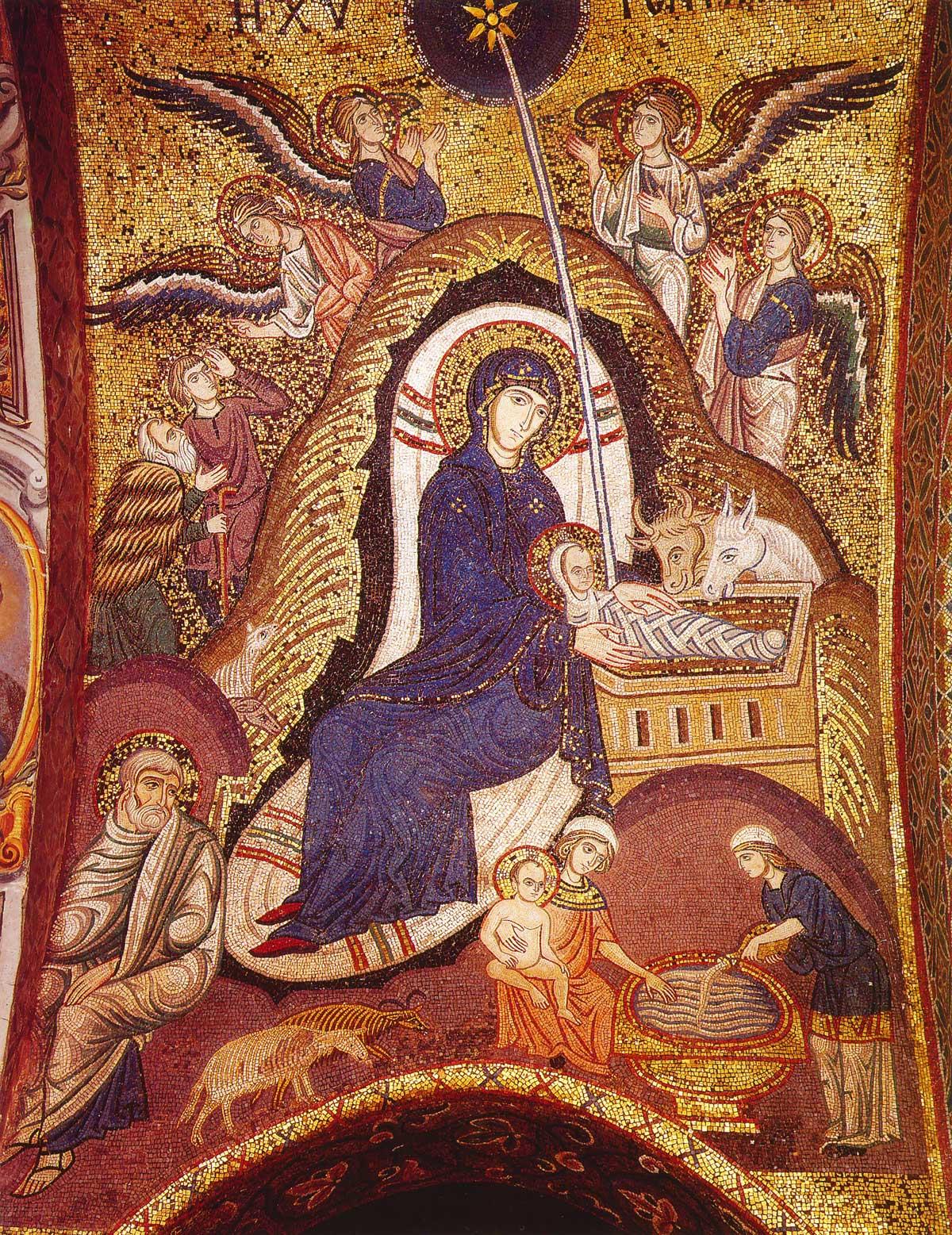 Мозаика церкви Марторана в Палермо. 1146–1151 г. Италия