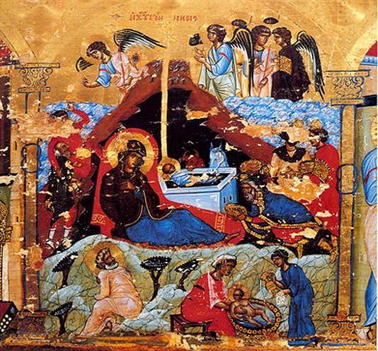 Икона-эпистилий. Последняя четверть XII в. Монастырь св.Екатерины, Синай. Фрагмент