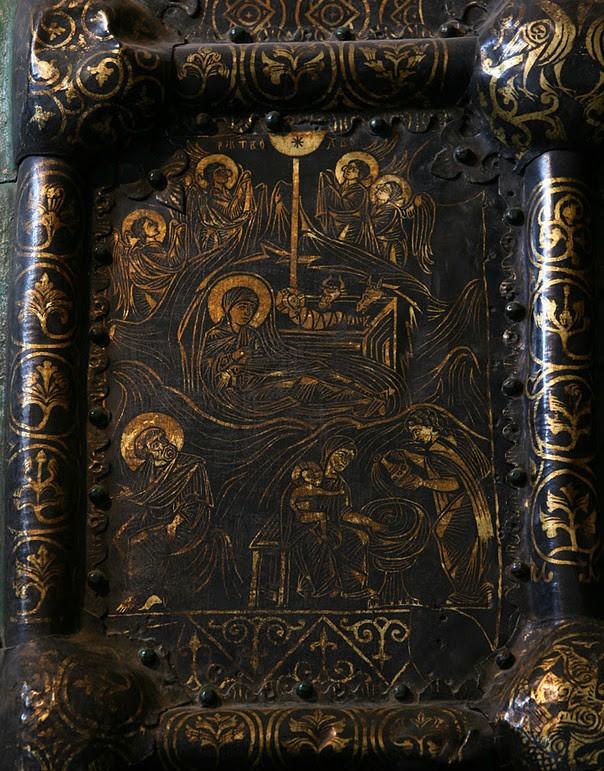 Западные врата Богородице-Рождественского собора. 1227-1238 г. Владимиро-Суздальский музей-заповедник. Фрагмент