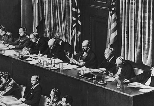 Нюрнбергский процесс 1946. Международный военный трибунал. Фото: bse.sci-lib.com