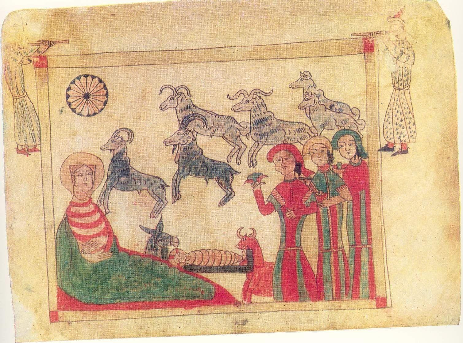 Мастер Мелхиседек. Миниатюра Евангелия. 1338г. Институт древних рукописей Матенадаран, Ереван, Армения