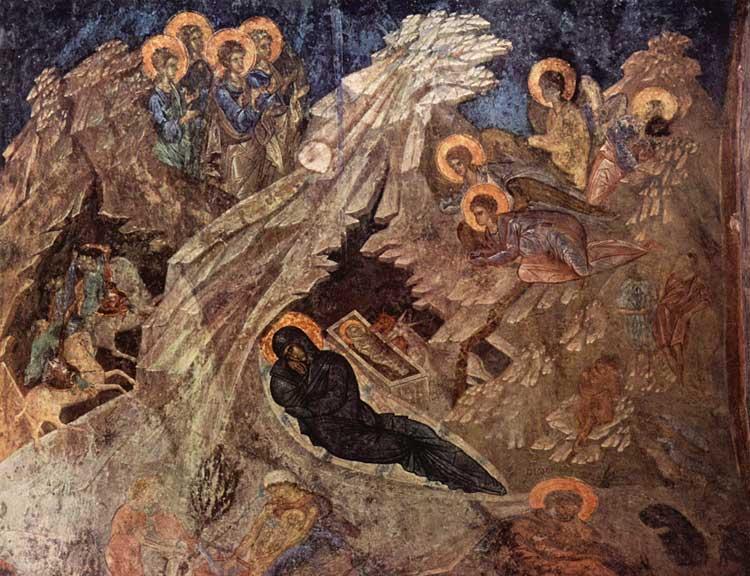 Фреска церкви Богоматери Перивлепты в Мистре. 2-ая половина XIV в. Греция