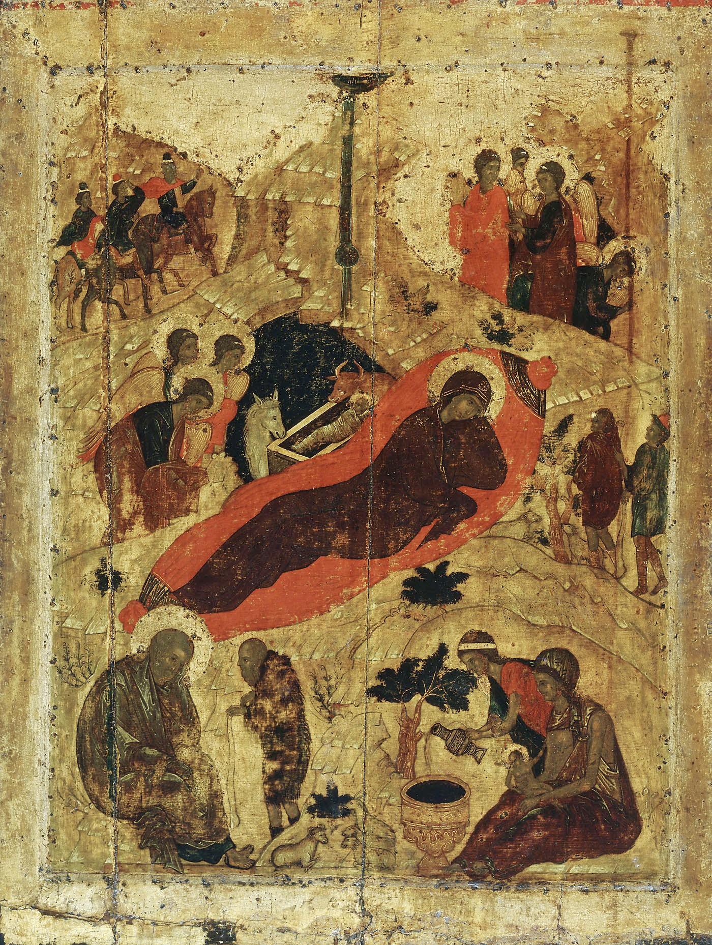 Икона из праздничного чина Благовещенского собора Московского Кремля 1405г.