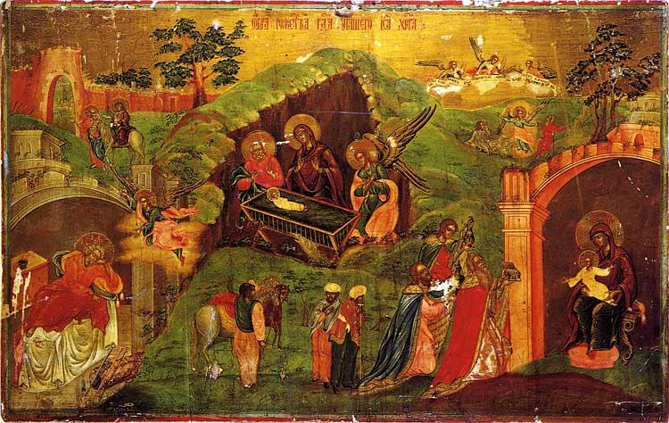 Икона из праздничного чина. 1-ая треть XIX в. Кыштым, Россия