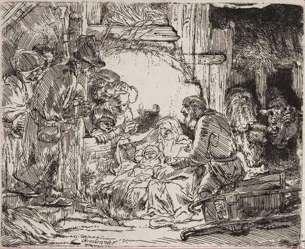 Рембрандт Харменс ван Рейн. Гравюра. 1654 г.