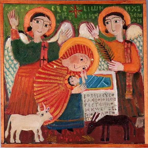 Рождество Христово. Картина Елены Черкасовой