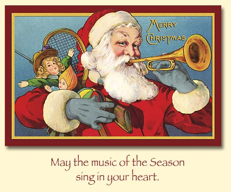 Когда была первая рождественская открытка