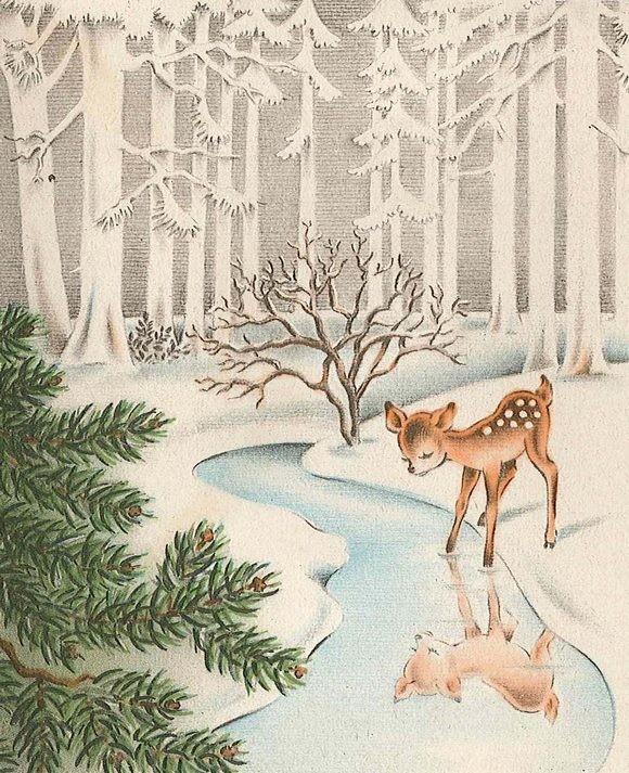http://www.pravmir.ru/wp-content/uploads/2013/01/Deer-looking-in-pond1.jpg