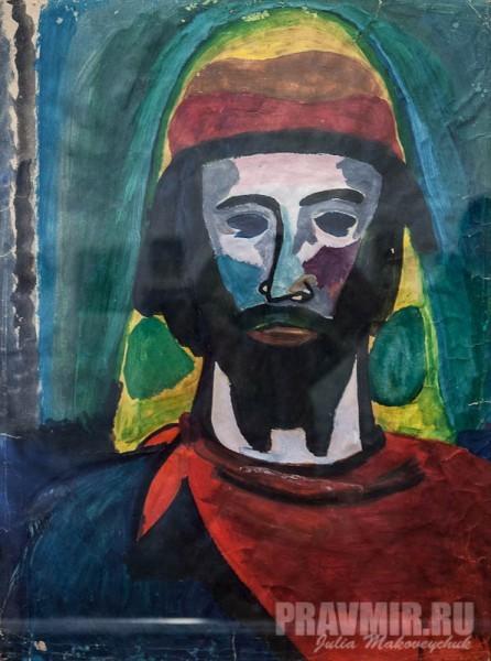 Георгий Циклаури, Библейский Моисей. 2001, гуашь, акварель