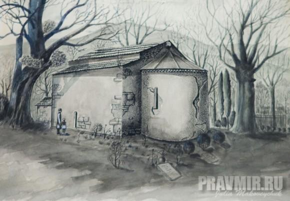 Нодар Рурия. Архангел. 1012, смешанная техника, бумага