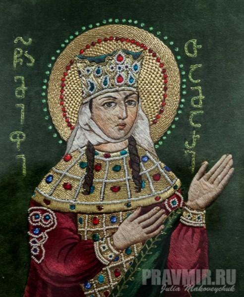 Додо Немзадзе. Царица Тамара. Вышивка