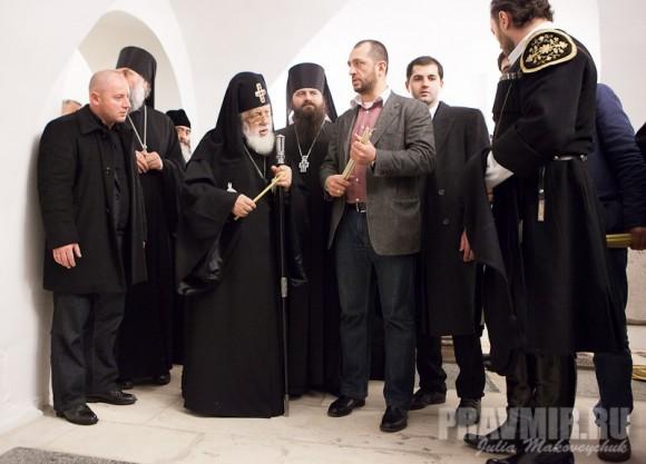 в подклете Большого собора Донского монастыря храме Сретения Господня