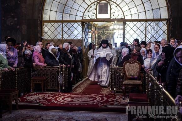 Встреча Блаженнейшего митрополита Владимира в Трапезной Церкви