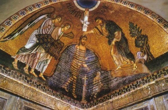 XI век. Монастырь св. Луки.  Крещение.