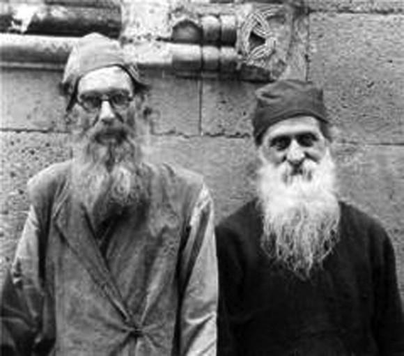 Подвижники Бетанского монастыря: св. прав.  Иоанн (Мхеидзе), духовное чадо прп. Алексия, св. прав. Иоанн (Маисурадзе)