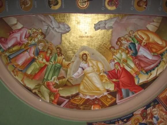 Воскресение Христово. Сербская фреска